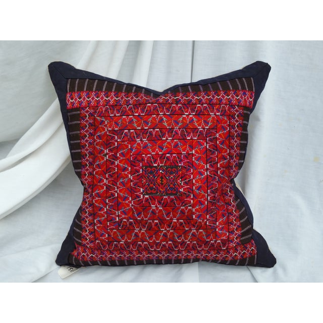 Silk Embroidered Baby Carrier Pillow - Image 2 of 5