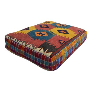 Turkish Kilim Floor Cushion - 23″ X 28″ X 6″