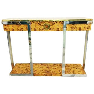 Willy Rizzo Burl Wood Console