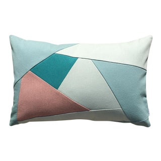 Green Geometric Pattern Lumbar Pillow
