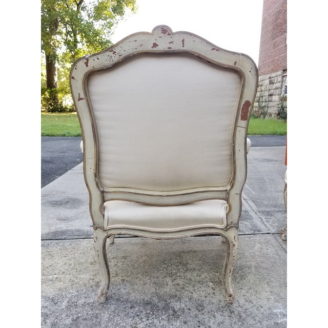 Vintage French Louis XV Style Armchairs - a Pair - Image 5 of 11