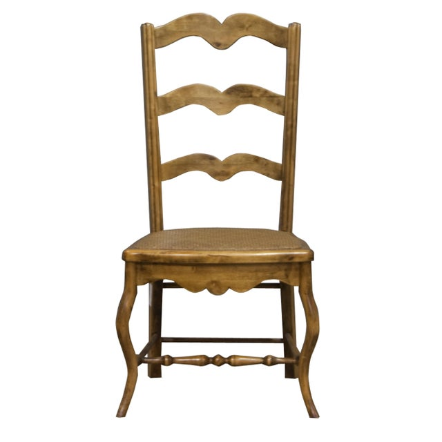 Vintage Sarreid LTD Alder Wood Ladderback Hall Chair - Image 1 of 4