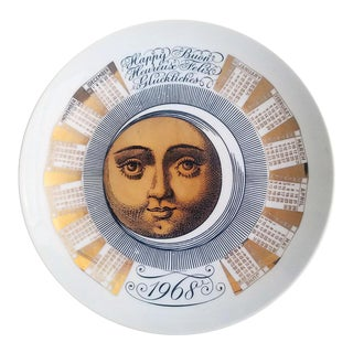 Piero Fornasetti Calendar Plate for the Year 1968.