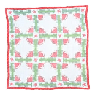 Handmade Red & Green Cotton Quilt