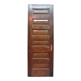 Six Raised Panel Inswing Left Hand Chestnut Door