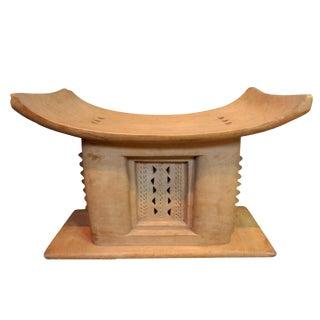 Rare Old Ashanti Carved Wood Stool