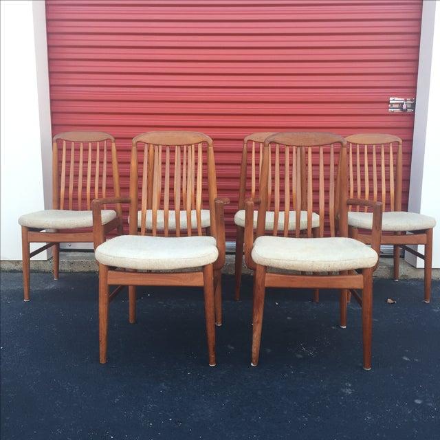 Danish Modern Style Teak Dining Chairs - Set of 6 - Image 3 of 11