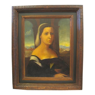 Vintage Oil Painting of Noble Lady