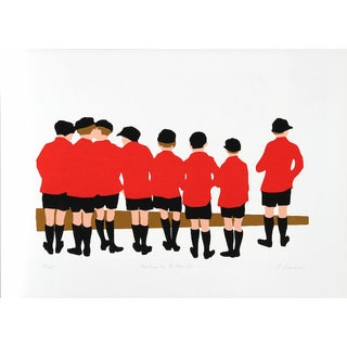 "P. Sussman, ""Waiting for the Eton Bus,"" Serigraph"