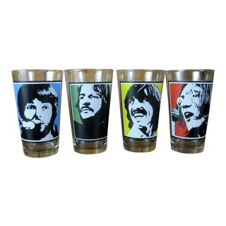 Vintage 'The Beatles' Drinking Glasses- Set of 4
