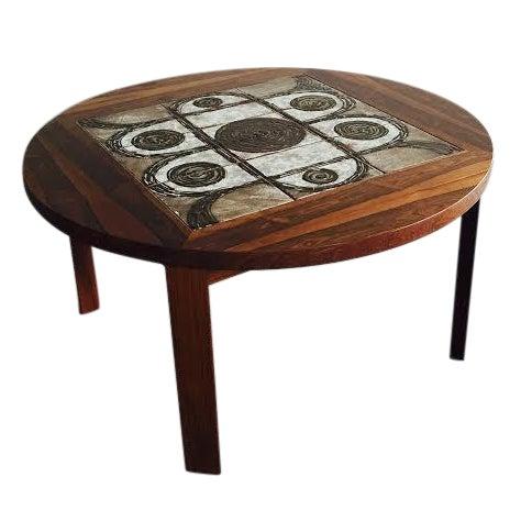 Vintage Danish Rosewood & Tile Top Coffee Table - Image 1 of 9