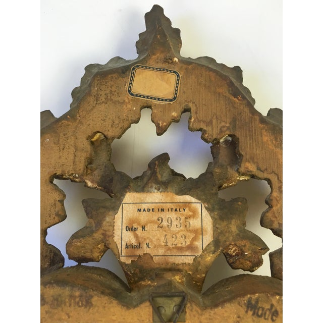Antique Italian Hand-Carved Gilt Wood Mirror - Image 9 of 10