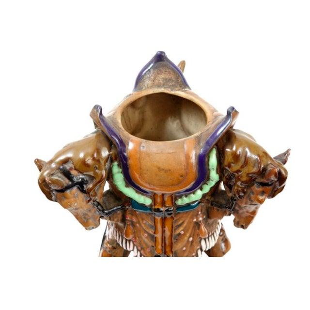 Antique 19th C. Austrian Equestrian Fantasy Vase - Image 2 of 3