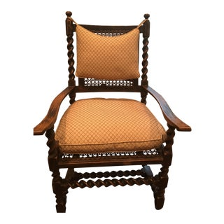 English Twisted Wood Chair