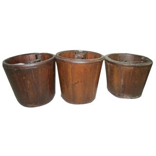 Chinese Small Wooden Bucket