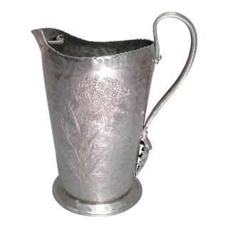 1940s Hand Wrought Aluminum Pitcher