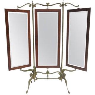 Gothic Industrial Three Panel Dressing Mirror