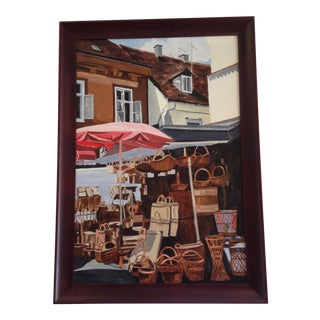 """Wicker Market"" Original Painting"