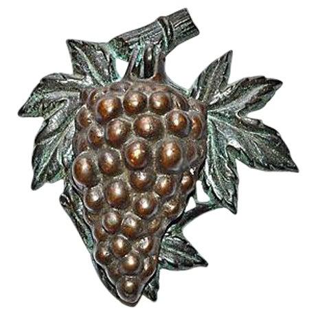 Bronze Grape Bunch Door Knocker - Image 1 of 8