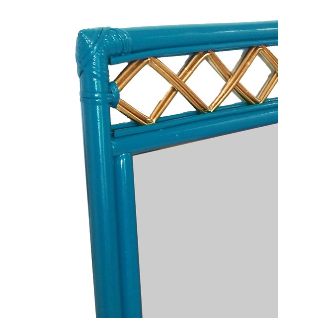 Vintage Ficks Reed Rattan Mirror - Image 5 of 7