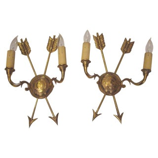 French Arrow Wall Sconces - a Pair