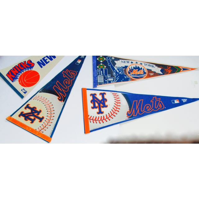 New York City Mets Knicks Pennants - Set of 5 - Image 8 of 10