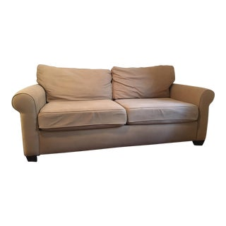 Pottery Barn Walnut Twill Sofa