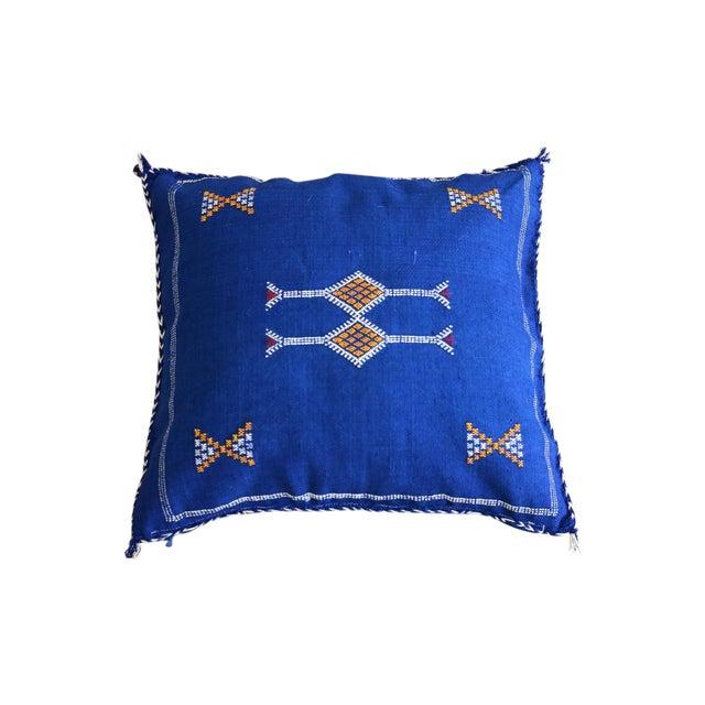 Moroccan Indigo Moon Sabra Cactus Silk Pillow - Image 1 of 3