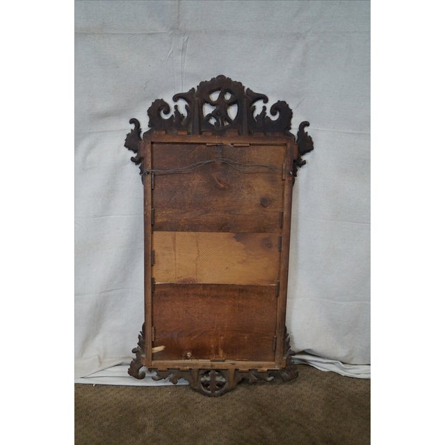 Antique Chippendale Style Phoenix Carved Mirror Chairish