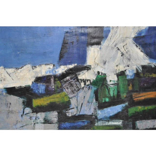 Mid-Century Modern Abstract Painting c.1960 - Image 5 of 6