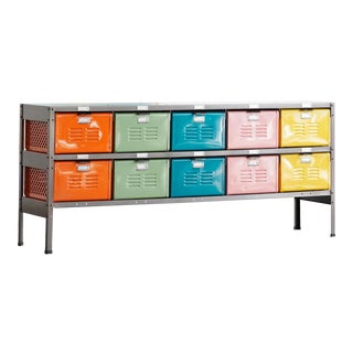 Made to Order Multi-Colored Locker Basket Unit