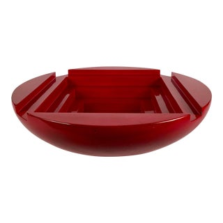 Stepped Red Lacquer Bowl