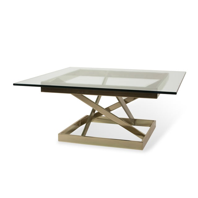 1980s Intersecting Angles Coffee Table - Image 8 of 9