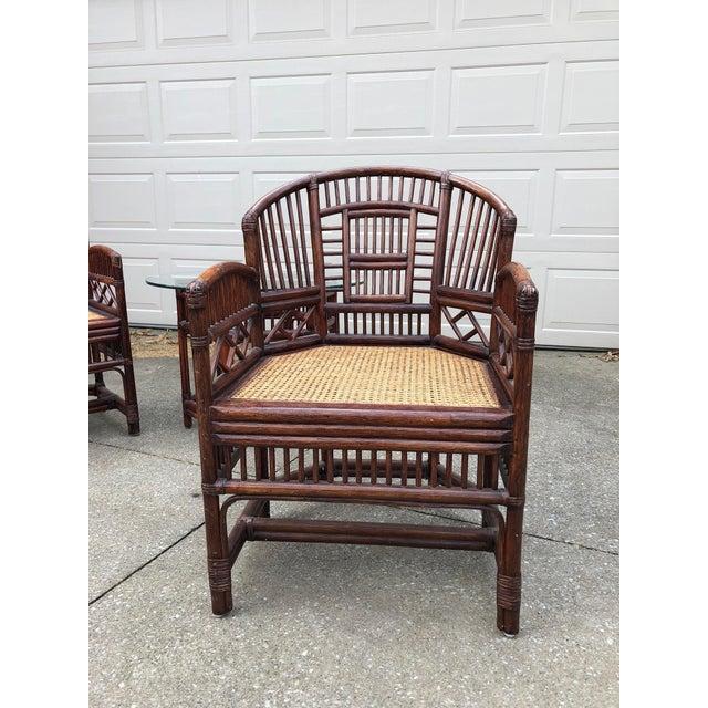 Vintage Brighton Bamboo Wicker Furniture Sofa - Set of 3 - Image 4 of 11