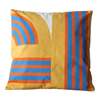 """Weave"" Mid Century Deadstock 1970s Graphic Throw Pillow"