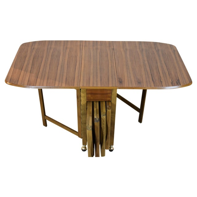 Mid-Century Danish Folding Dining Table & Chairs - Image 1 of 10