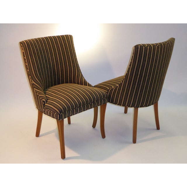 Sleek Tailored 40's Slipper Side Chairs - Image 2 of 10