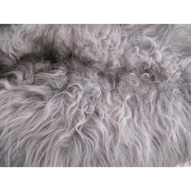 Nordic Gray and Black Sheep Throw - Image 4 of 7