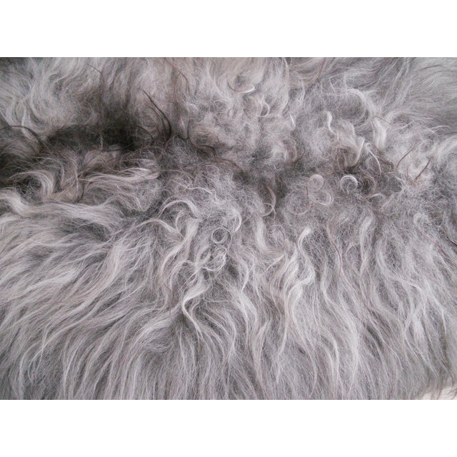 Image of Nordic Gray and Black Sheep Throw