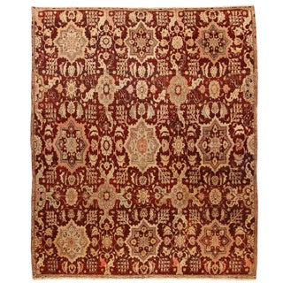 Exceptional Antique Early 19th Century Indian Agra Carpet
