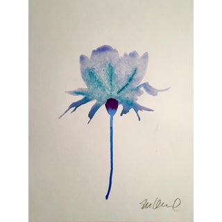 """Turquoise Bloom"" Original Watercolor Painting"
