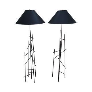 Bronze Eiffel Tower Floor Lamps - A Pair