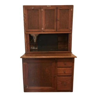 Hoosier Oak & Copper Cabinet