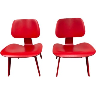 Eames Molded Plywood Lounge Chairs - Pair