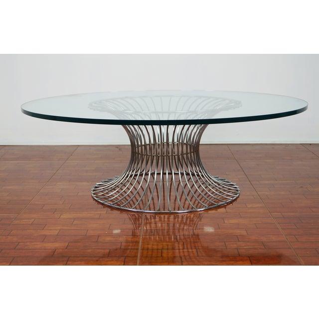 Image of Vintage Chrome Coffee Table