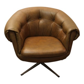 Mid Century Modern Overman Style Swivel Chair
