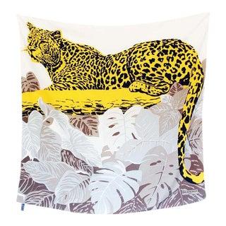 Balenciaga Leopard Silk Scarf