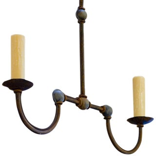 """Marion"" Iron 2-Light Chandelier"