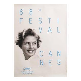 Original Cannes Film Festival Poster 2015, Ingrid Bergman