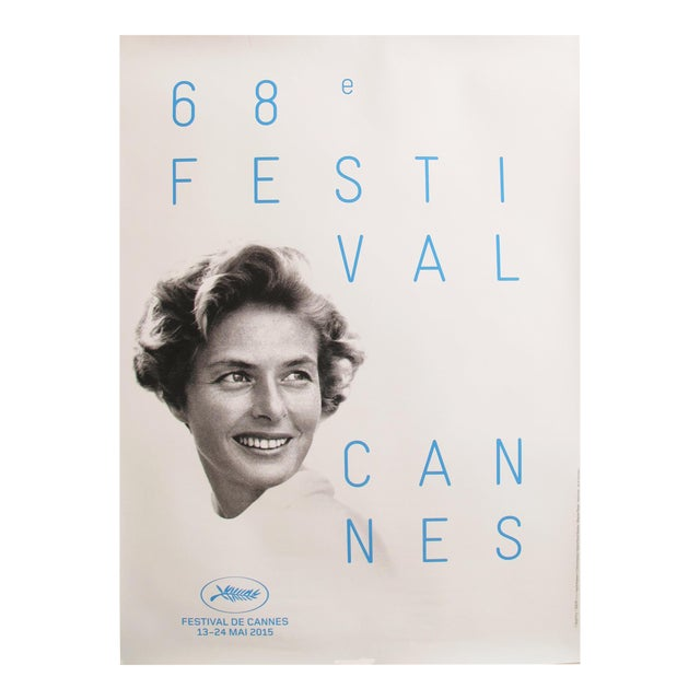 Original Cannes Film Festival Poster 2015, Ingrid Bergman - Image 1 of 4